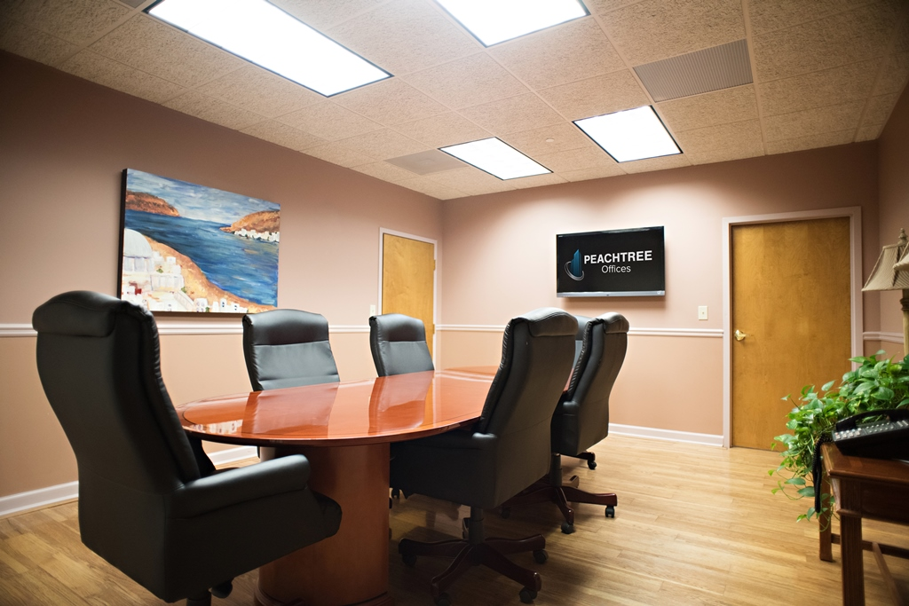 Person Conference Room Peach Room At Peachtree Offices At Lenox I - 6 person conference table